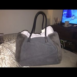 Authentic New Ugg Shearling, Suede and Leather Bag